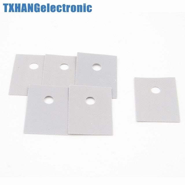 100PCS TO-220 Insulation Pads Silicone Heatsink Shim for Laptop GPU CPU