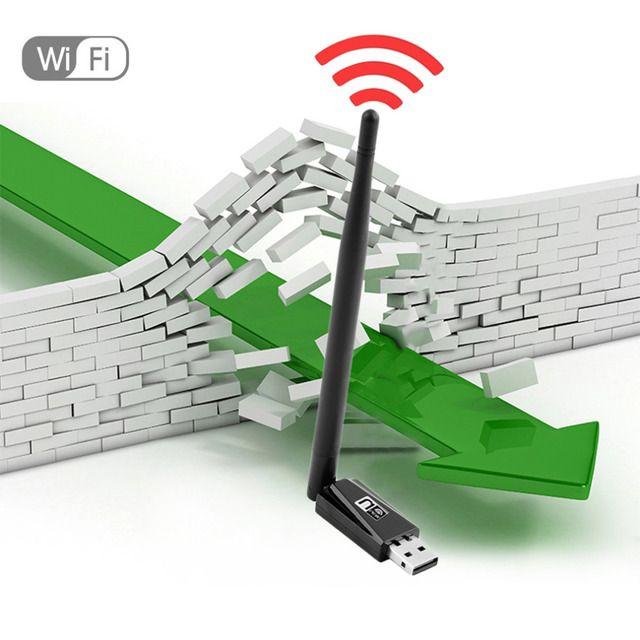 150Mbps Wireless USB WiFi Adapter Wireless Dongle WiFi Network LAN Card 802.11n/g/b + wifi Antenna Wireless USB Adapter