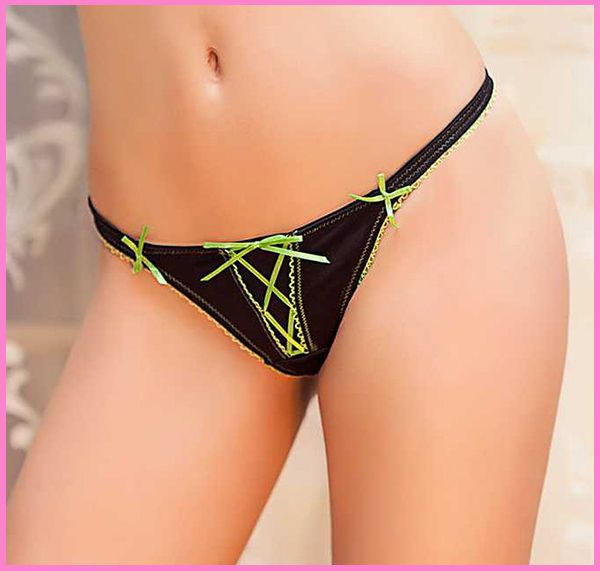 2015 New Arrival Brand sexy g-strings thongs & tangas panties for women Bow panties female underwear underwear women's briefs
