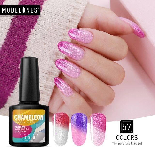 Modelones 10ML Thermo Nail Gel Polish Change Color Temperature UV Nail Gel Polish Thermal UV Gel Nail Varnish Long Lasting Gel