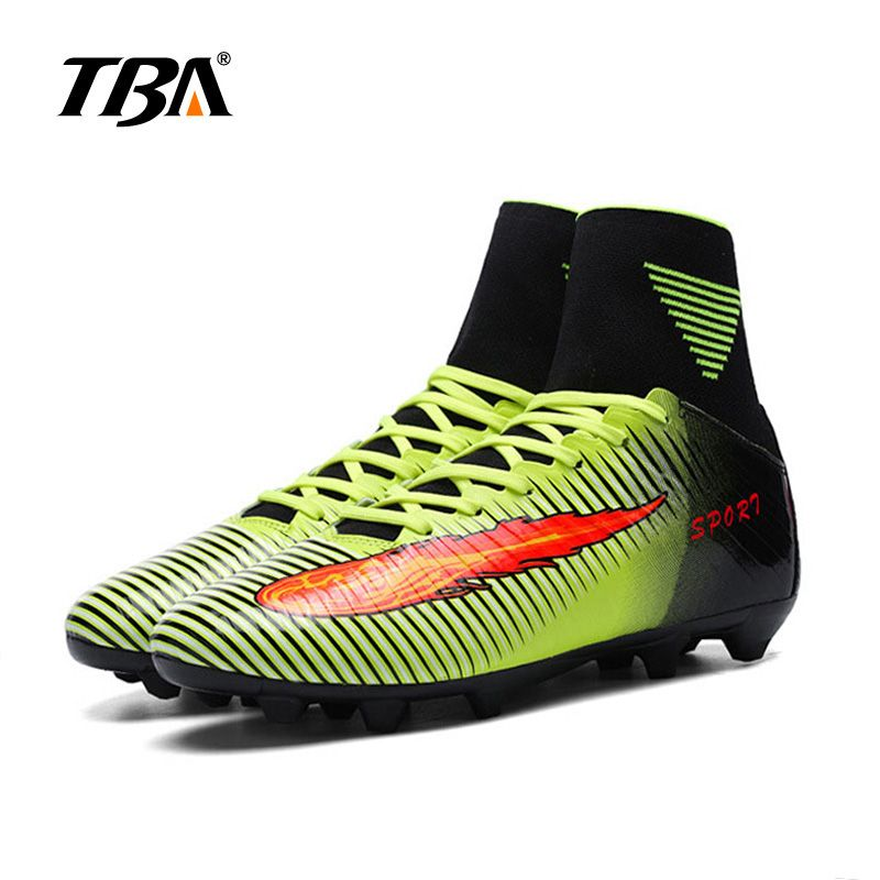 2019 Unisex Soccer Boots With Men Ankle Turf Men Shoes Boy Big Size Man High Top Soccer Cleats Training Football Sneakers 35-44