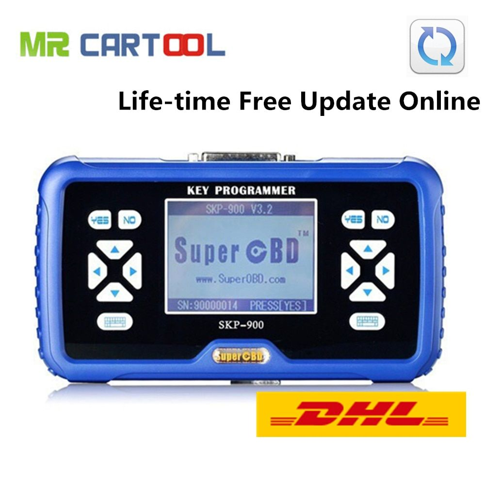 Original SuperOBD SKP900 Auto Key Programmer V5.0 SKP 900 Life-time Free Update Online Support Almost All Cars Free DHL