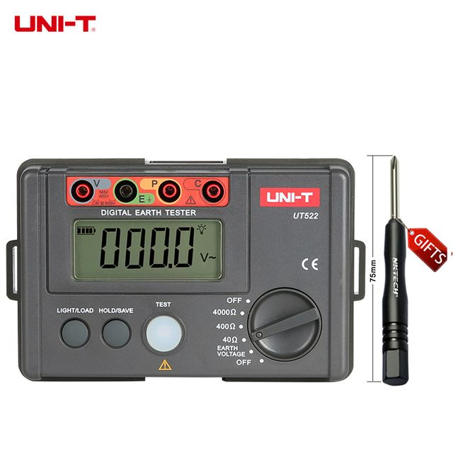 UNI-T Megger UT522 Digital Earth Ground Insulation Resistance Testers New