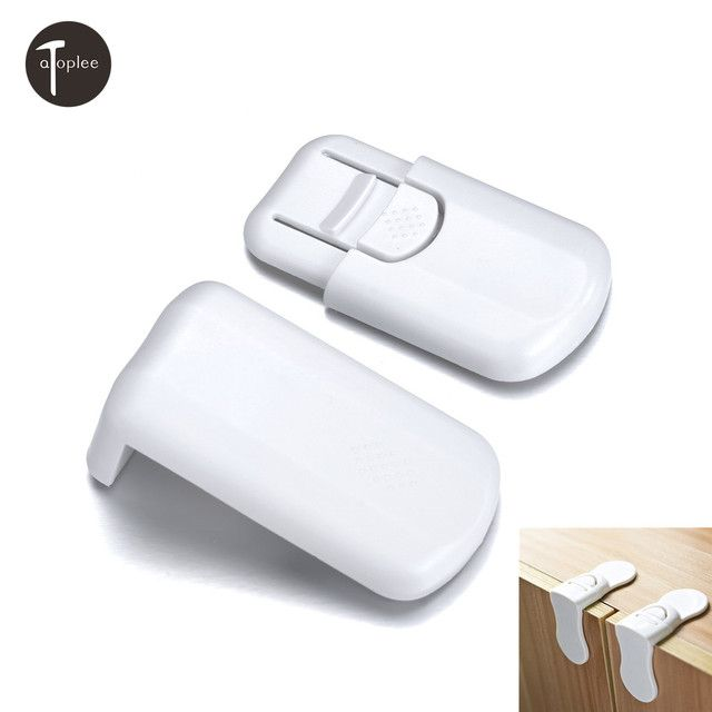 Drawer Lock For Children Safety Lock Baby Door Safety Buckle Prevent Open Drawer Cabinets Anti Pinch Hand Protect 70x40mm