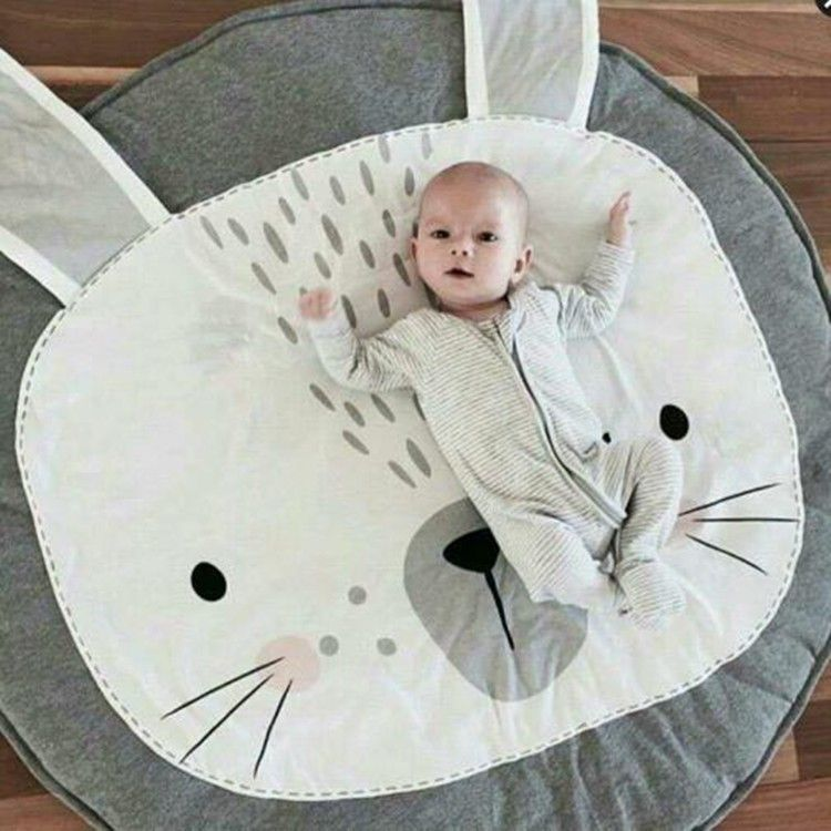 95x95cm New Lovely Rabbit Crawling Blanket Carpet Floor Baby Play Mats Children Room Decoration Rugs Creeping Mat Blankets