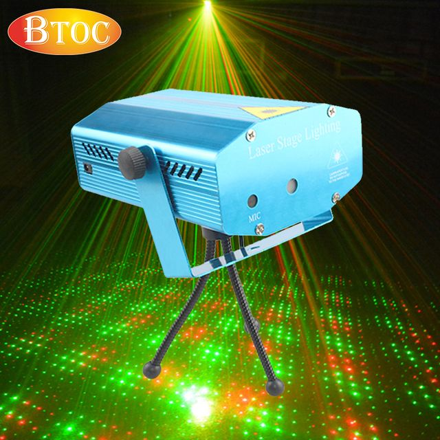 Mini laser stage light voice control Automatic play Adjustable speed AC 110V - 220V Laser light Stage lighting effects lamp
