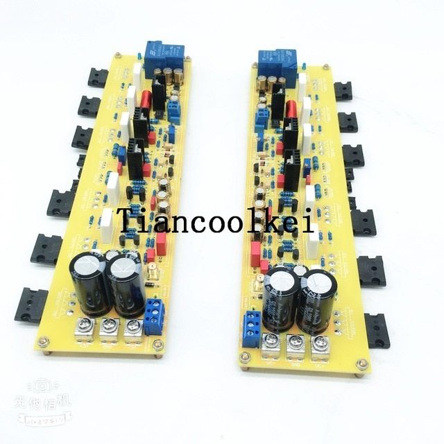 Assembled 2.0 Channel Class A 50W+50W Hifi Power Amplifier Board Inspired By KSA50 Contain The Transistor amplifier board
