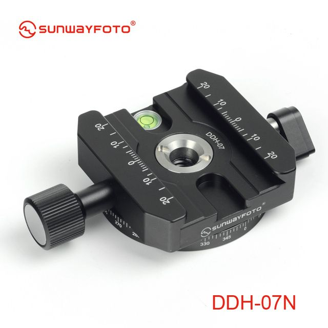 SUNWAYFOTO DDH-07N Tripod Head Quick Release Clamp  for DSLR   BallHead Panoramic panning Release Clamp without Arca Plate
