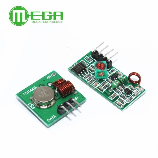 RF wireless receiver module & transmitter module board for arduino super regeneration 315/433MHZ DC5V (ASK /OOK)