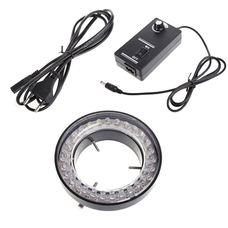 60 LED Adjustable Ring Light illuminator Lamp for STEREO ZOOM Microscope Microscope EU Plug -W310