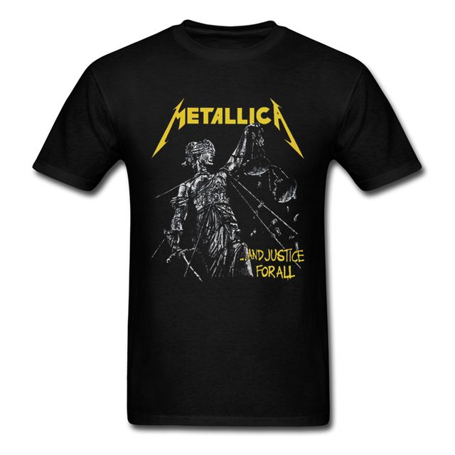 Metallica And Justice For All Men's T Shirt New Fashion Heavy Metal Music Band 100% Cotton Top Tee Summer Adult T-shirts S-3XL