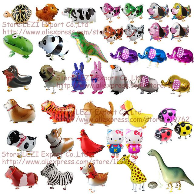 Free Shipping walking pet animal Foil balloon Birthday Party Decoration Balloons children's toys hot sale Russia United States