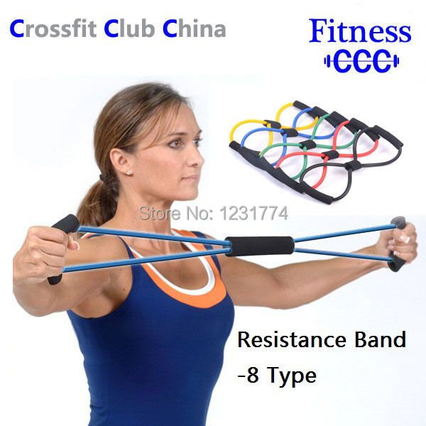 Resistance Bands Tube Workout Exercise Fitness For Yoga