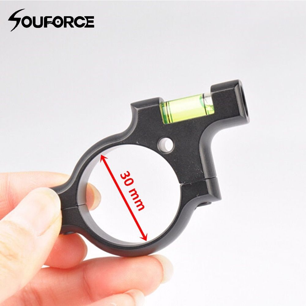Airgun Scope Spirit Level Bubble Tactical Rifle for 30mm Scope Sight Rail Weave/Picatinny on Hunting Gun Scope Mounts