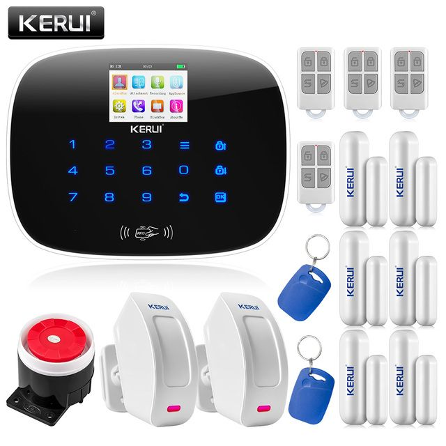 KERUI APP Wireless GSM RFID Keypad Autodial Home Alarm System Door/window Status Self-check
