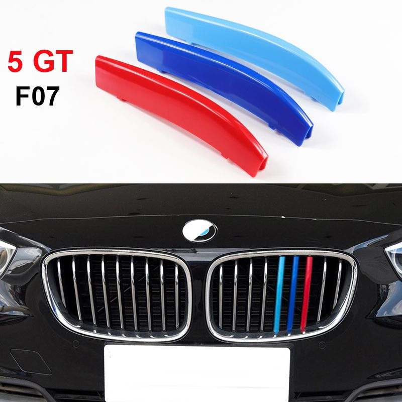 For BMW 5 Series GT 5GT F07 528i 535i 550i Gran Turismo Front Grille Trim Motorsport Strips Grill M Performance Cover Stickers