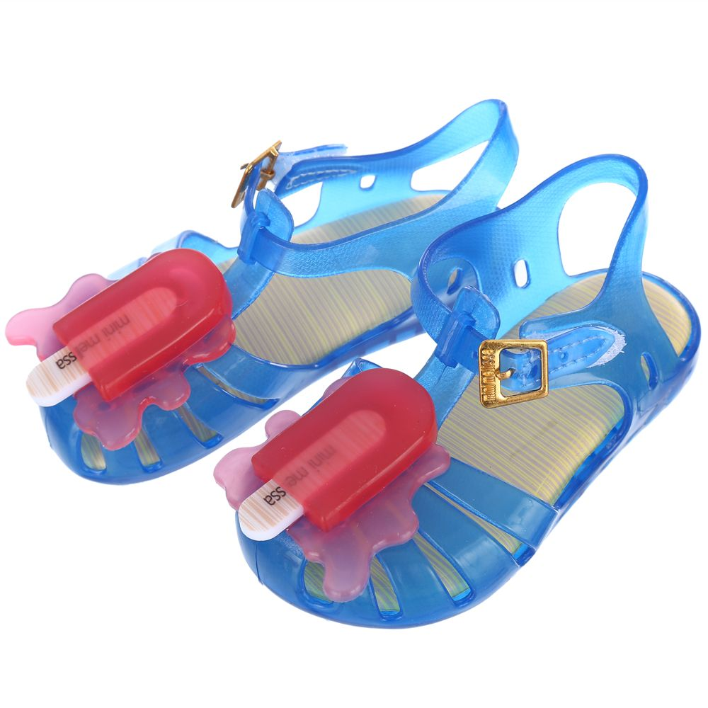 4Color Popsicle Mini Melissa Girls Sandals 2017 Children Toddler Shoes Jelly Rome Sandals Girls Shoes Breathable 13.5cm-16.5cm