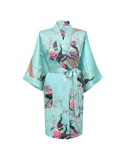 2017 NEW Chinese Women's Silk Rayon Robe Kimono Bath Gown Nightgown S M L XL XXL XXXL Free Shipping