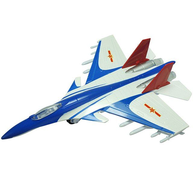 Fighter J-15 Model Alloy Toy Airplane F15 Acousto-Optic Pull Back Boy Gifts For Children High Simulation Military Aircraft Kids