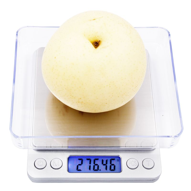 500g x 0.01g Portable Mini Electronic Food Scales Pocket Case Postal Kitchen Jewelry Weight Balanca Digital Scale With 2 Tray 22