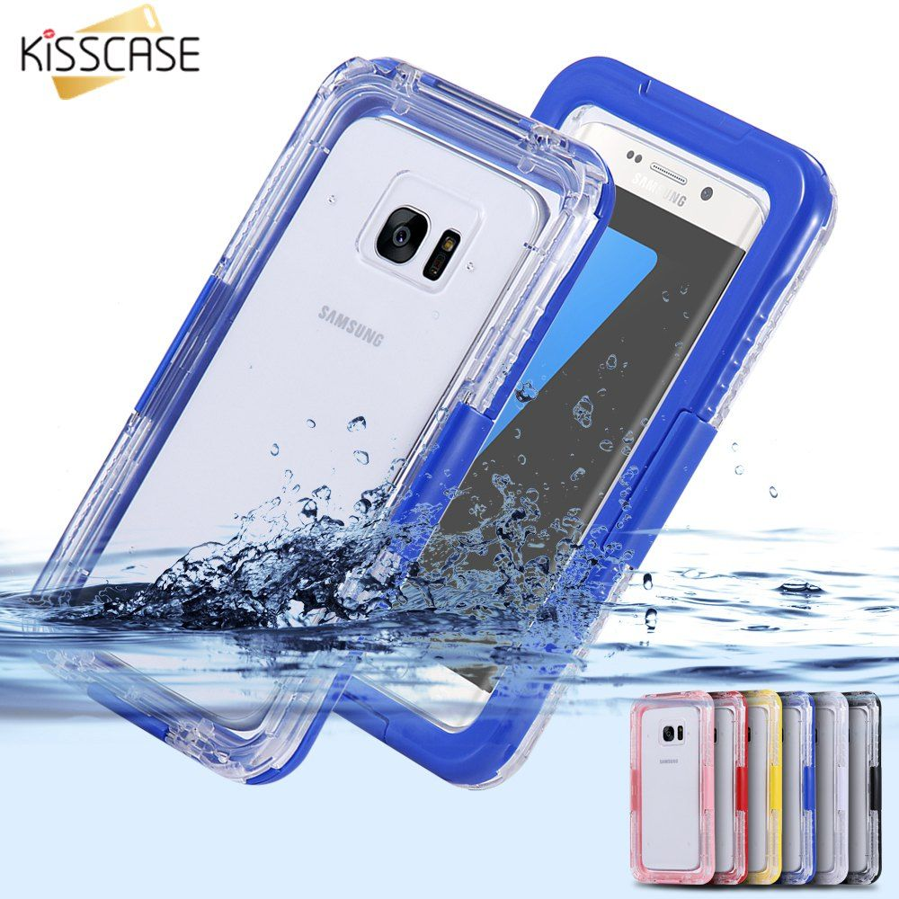 KISSCASE Waterproof Swimming Dive Case For Samsung Galaxy S6 S6 Edge PlusS7 S7 Edge Note 5 Water Proof Phone Bag For S8 S8 Plus