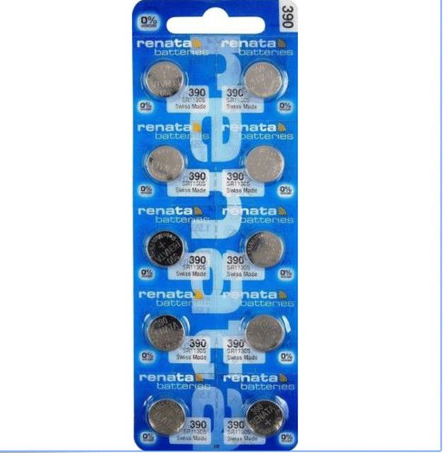 10Pcs/Lot RETAIL BrandNew Renata LONG LASTING 390 SR1130SW 389 LR54 AG10 Watch Battery Button Coin Cell Swiss Made 100% Original