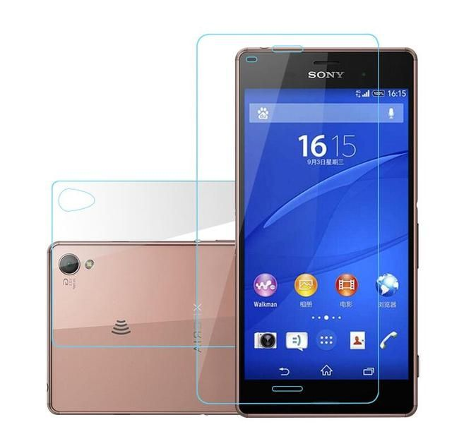 2Pc/Lot 9H 0.3MM Front+Back Tempered Glass For Sony Xperia Z3 Compact Z5 Z4 Z2 Z1 MINI Screen Protector Film For Sony M4 aqua M5