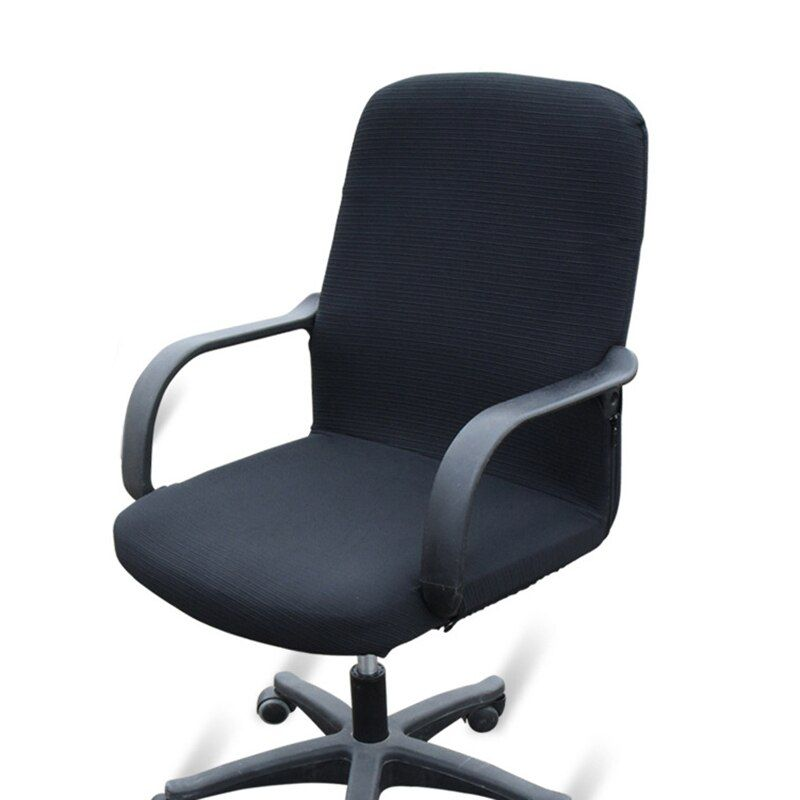 Elasticity Seat Covers for Computer Office Slipcover Side Arm Chair Covers Spandex Stretch Office Chair Covers without Chair