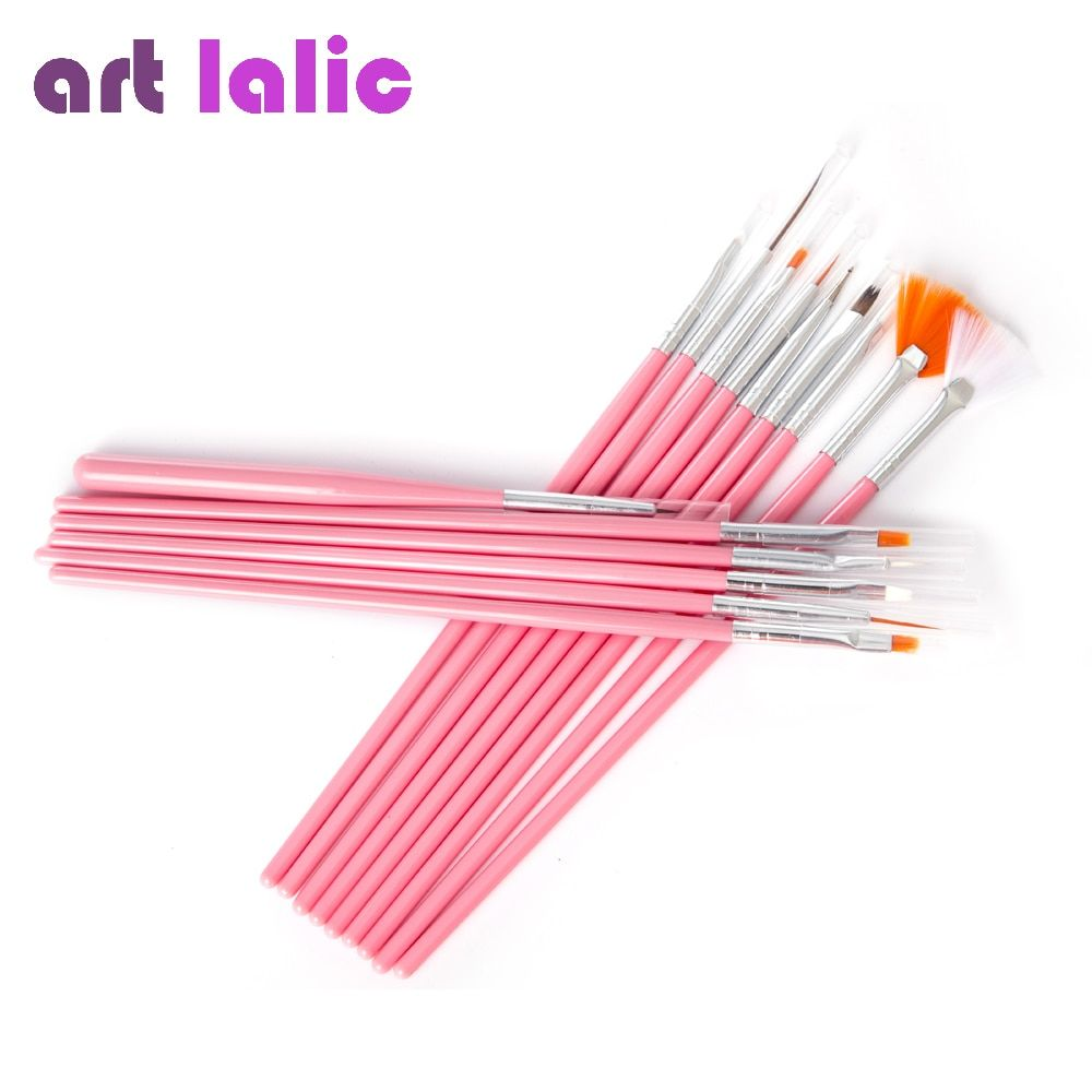 15 pcs/set Nail Art Decorations Brush Tools Professional Nail Art Brushes Painting Pen for False Nail Tips UV Nail Gel Polish