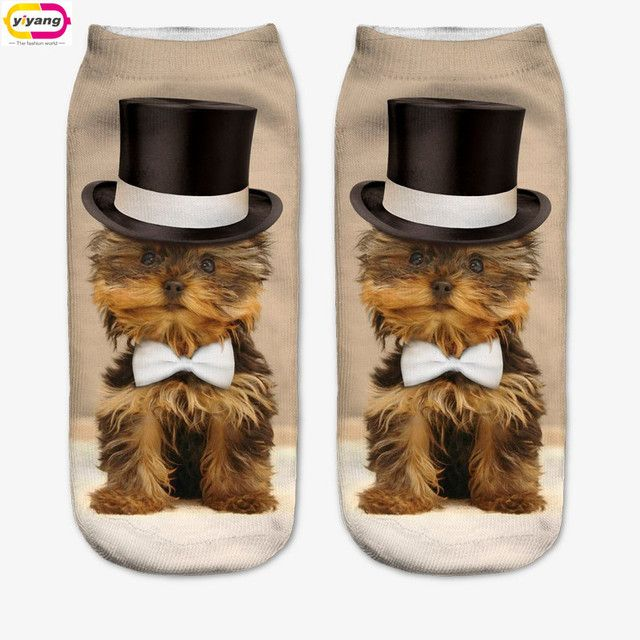96 Color 3D Sock Print  Time-limited Ruched Polyester Contrast Color Meias Women Socks Casual Cute Character Unisex
