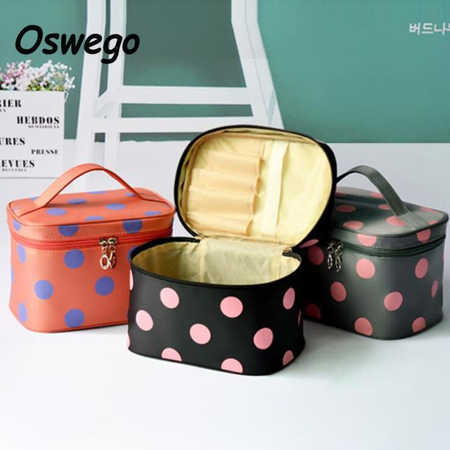 Portable Waterproof Square Cosmetic Bag Women Makeup Bag Storage Travel Wash Toiletries Organizer Handbag neceser maquillaje