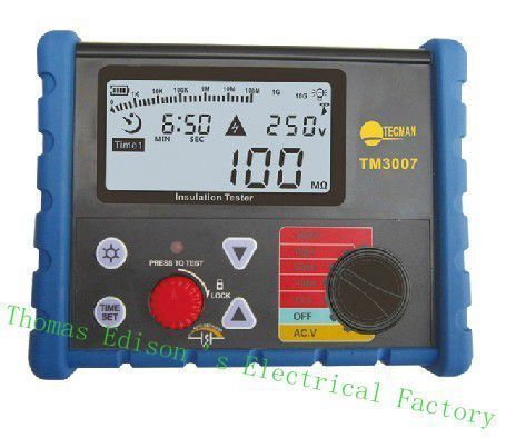 TECMAN genuine digital high voltage insulation resistance tester/megohmmeter TM3007 (1000 v) meter