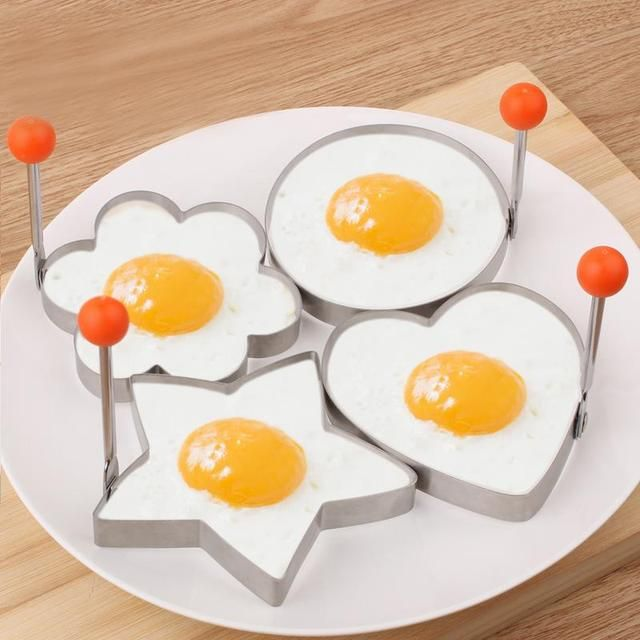 4pcs Form For Eggs Free Shipping Stainless Steel Fried Egg Mold Kitchen Tool Pancake Rings Cooking Egg Styling Tools GadgetZH370