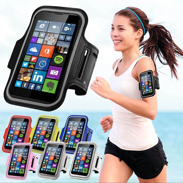 Running Sports Gym Exercise Arm band Case For Xiaomi Mi 4/Mi 5/Nokia Lumia 640/625/535 Waterproof Jogging Tune Belt Phone Cover