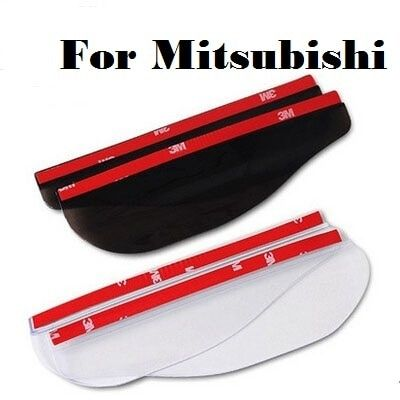 Car Stickers Rearview mirror Rain Shade Eyebrow For Mitsubishi Mirage Montero Montero Sport Outlander Pajero Mini RVR Space Star