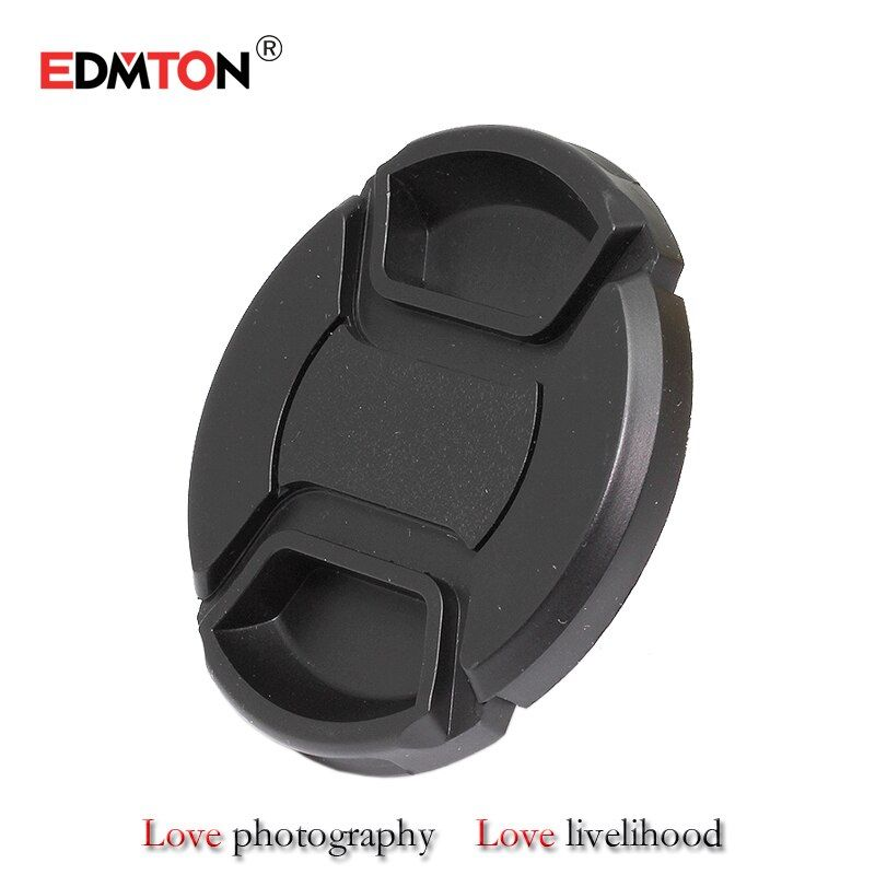 49 52 55 58 62 67 72 77 82 mm Center Pinch Snap-on Front Lens Cap for camera Lens Filters with Strap