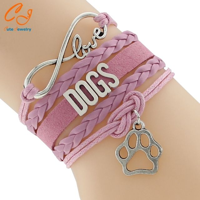 Infinity Love DOGS  pet Bracelet Customized Wristband friendship Bracelets