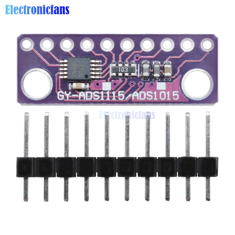 ADS1115 Module 16 Bit IIC I2C 4 Channel ADC with Pro Gain Amplifier 2V To 5V Auto Shut Down Programmable Comparator For Arduino