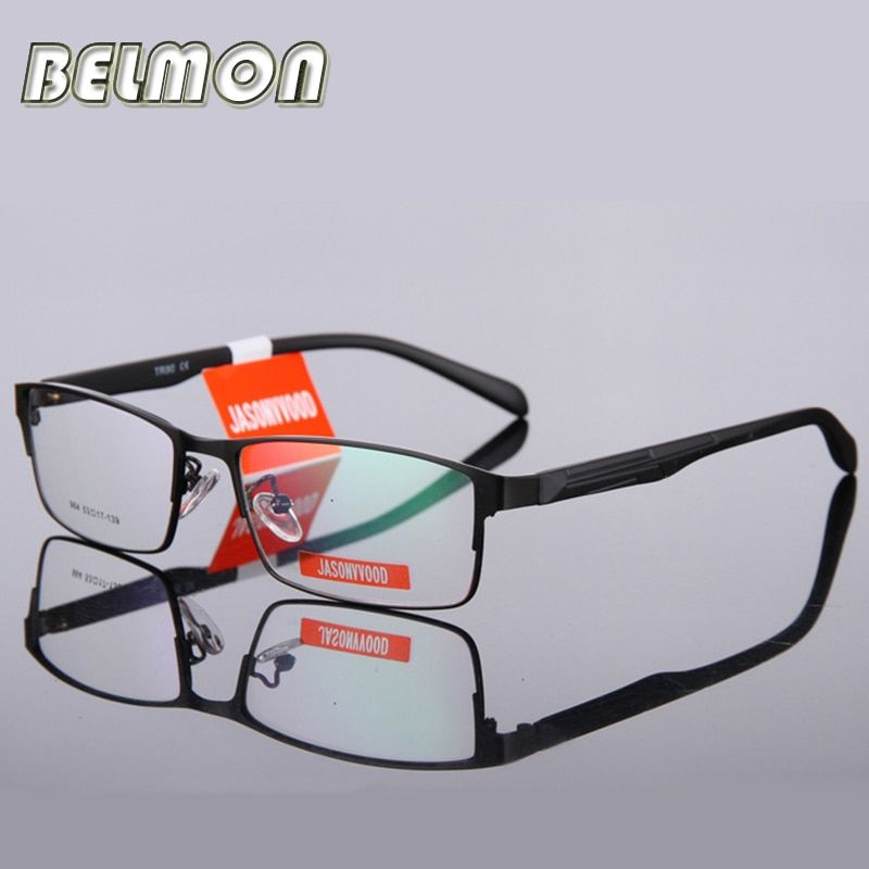 BELMON Eyeglasses Frame Men Computer Optical Eye Glasses Spectacle Frame For Male Transparent Clear Lens Armacao  de RS009