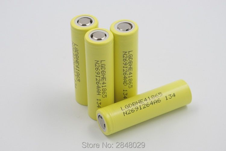 5 PIECES. New For LG DBHE41865 2500 mAh Lithium Battery 18650 3.7V HE4 20A Battery Discharge Battery