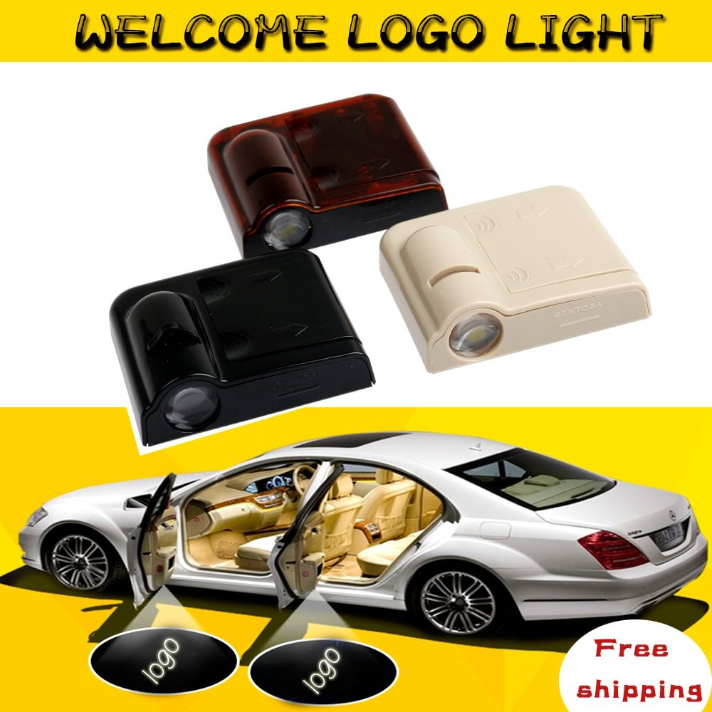 2pcs Wireless Car Door Welcome Light auto Logo  Badge Lights LED car-styling Laser Ghost Shadow Projector Lamp for Most Cars