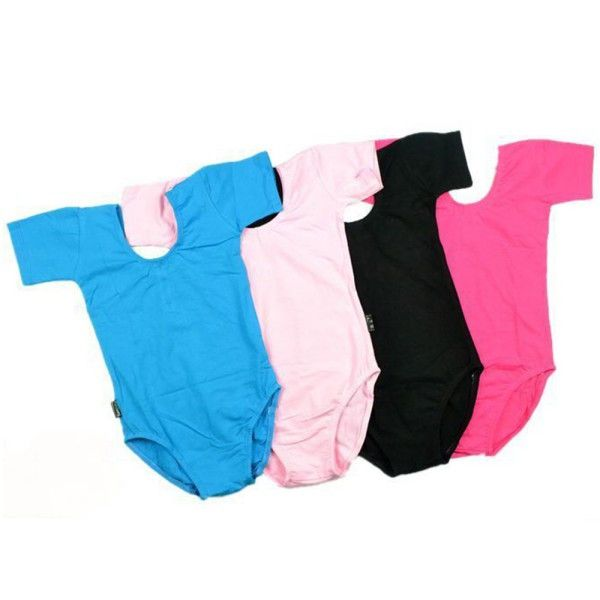 Hot Selling Child Girls Kids Solid Multicolor Slim Ballet Gymnastics Jumpsuit Leotards 3-12Y