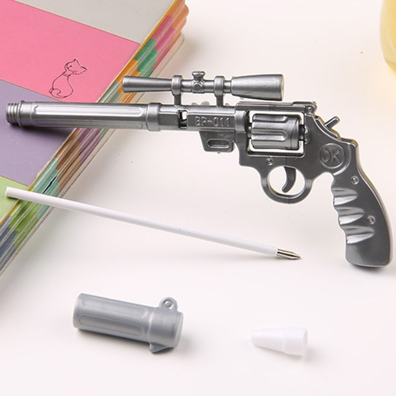 2017 Sale Real 1pcs Ballpoint Pen Roscoe Fiveshooter Gun - Cute Funny Kawaii Pens Canetas Rollerball School Supplies Papelaria