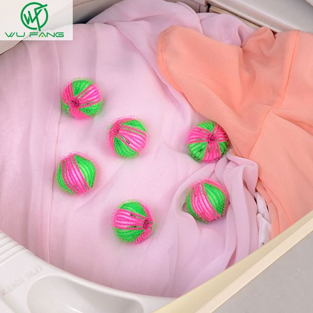 6 PCS Magical Hair Removal Laundry Ball Clothes Hair Ball Home supplies Washing Machine Cleaning Ball