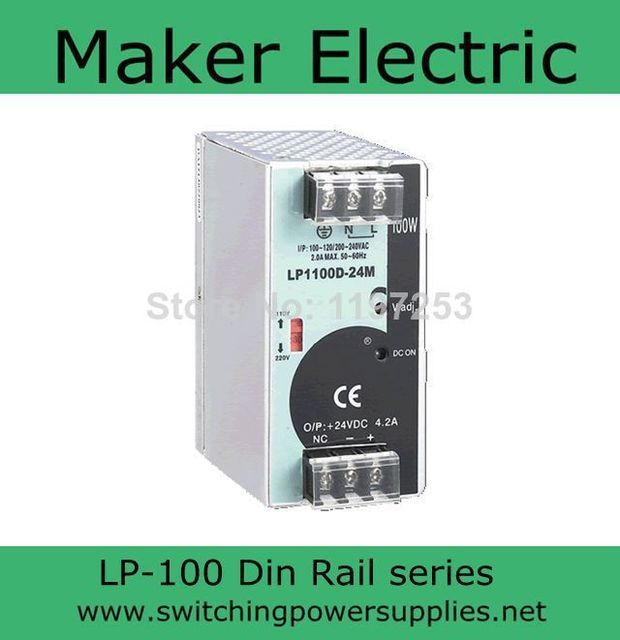 universal input power supply 48v 100w din LP-100-48 switching power Without the function of measuring