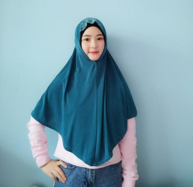 H1089 latest big size muslim hijab with rhinestones,muslim scarf,fast delivery