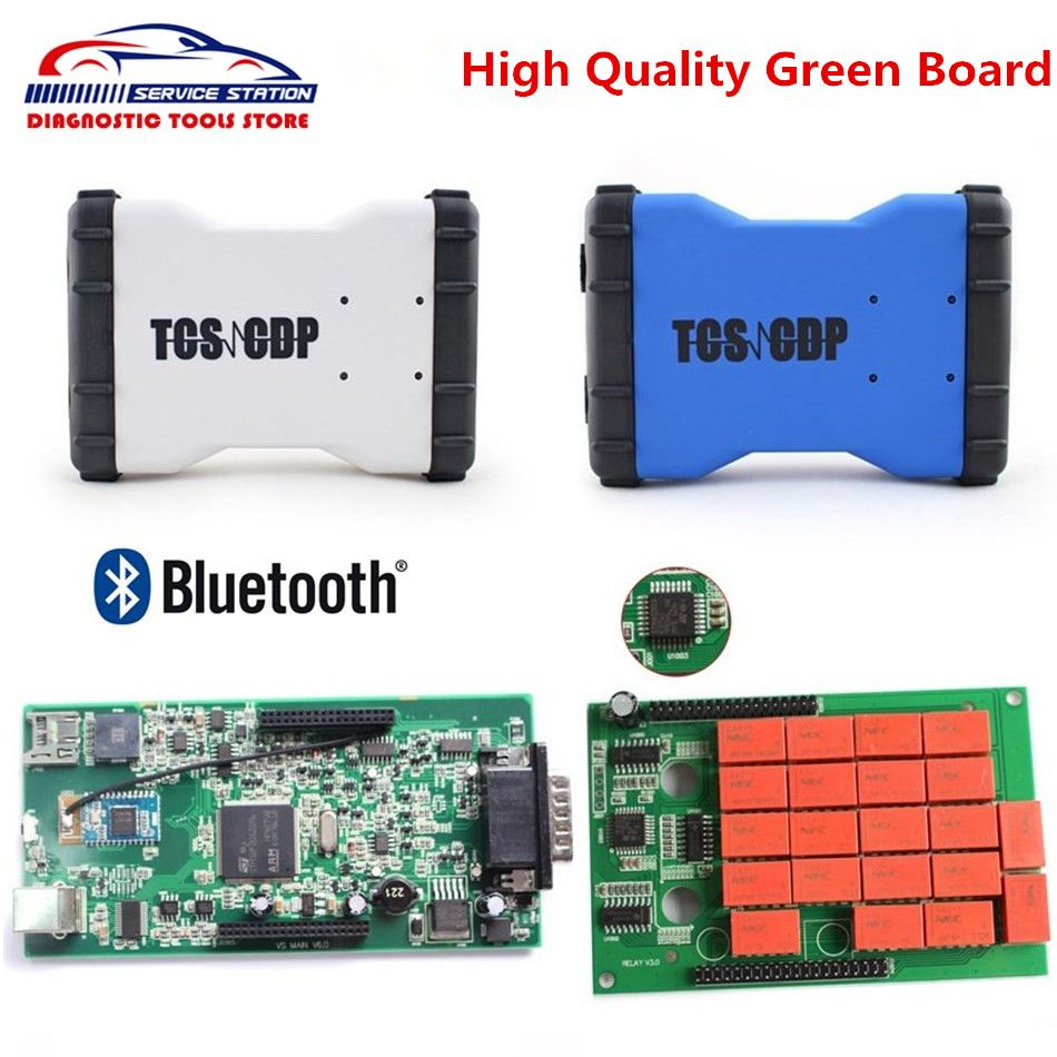 New TCS CDP With Bluetooth High Quality Green Board Latest Version 2015.1 New VCI Free Activate Any Time