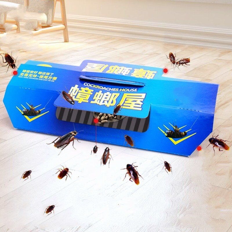 5Pcs Cockroach Glue Traps Killer Pest Control Trap Ants Spiders Fleas Bed Bugs Insects Reject Bait Powder Repeller Roach Catcher