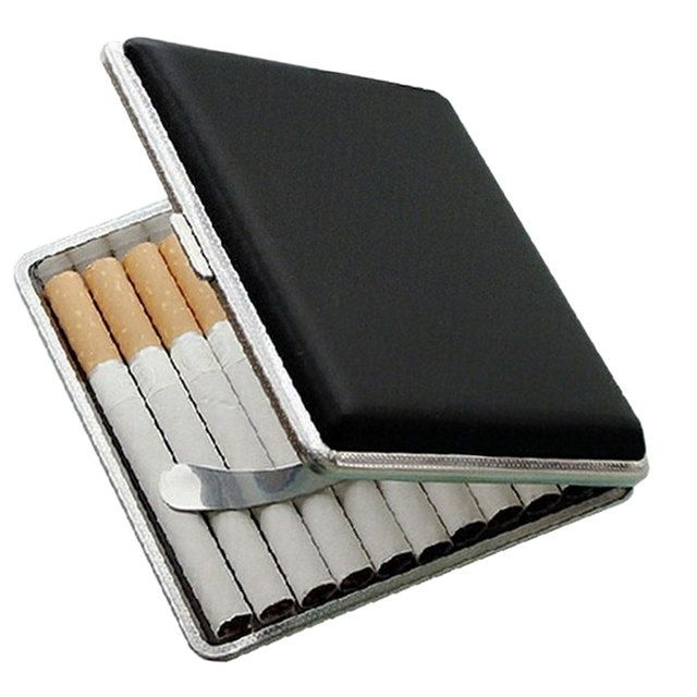 New Fashion Leather Pocket Cigarette Tobacco Case Box Holder Tobacco Storage Case Gift Sale Dropshipping Caixas De Cigarros -35