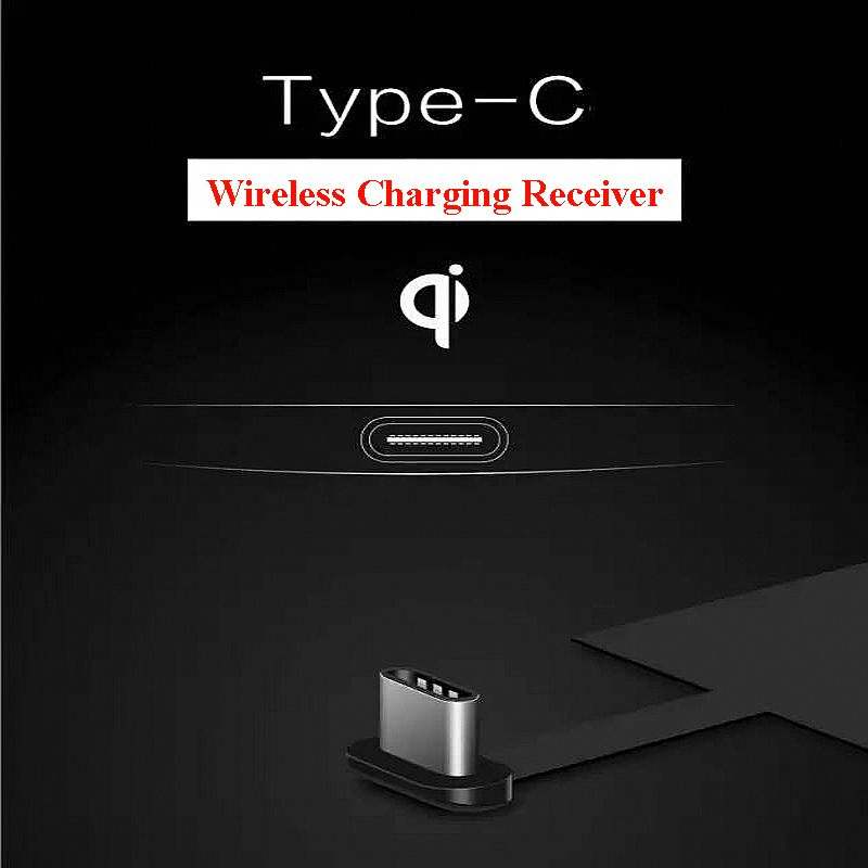 Universal Type-C Qi Wireless Charger Charging Receiver for Huawei P20 Pro P10 P9 Plus Nexus 5X 6P Xiaomi Mi8 SE 6 Oneplus 3T 5 6